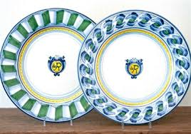 monogrammed plate painted monogrammed plate 11 made in italy