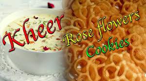 ramadan special keer badam indian dessert and rose flower cookies