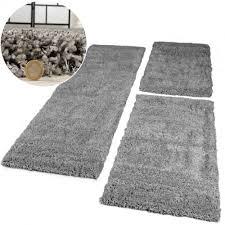 teppichl ufer flur bettumrandung 3 tlg hochflor shaggy langflor teppich läufer