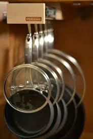 kitchen storage ideas for pots and pans 44 pot and pan lid storage ideas how to store pot lids 8 options