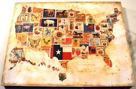 States Map Usa by United States America Map On Linen Stock Illustration 178713971