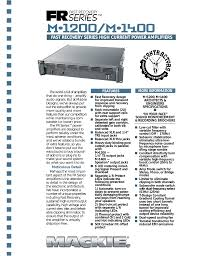download free pdf for mackie fr series m 1400i amp manual