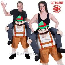 Bavarian Halloween Costumes Halloween Bavarian Beer Guy Mascot Costume Carry Piggyback