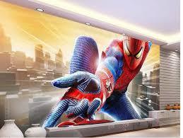 3d mural custom photo wallpaper 3d european spiderman superman cartoon