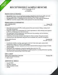 Administrative Secretary Resume Sample Sample Medical Secretary Resume Receptionist Resume Sample Unit
