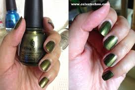 celestechoo com china glaze nail polish in lovely green color