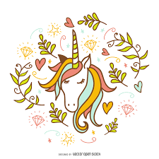 doodle with unicorn doodle with decorations pinteres