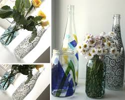 Diy Wine Bottle Vases Painted Bottle Vases Garden Therapy