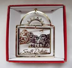 mt rushmore brass christmas ornament south dakota travel souvenir
