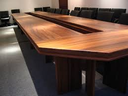 Large Conference Table Office Meeting Room Decorating Ideas With Rectangular Brown
