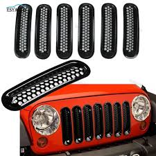 jeep front grill guard matte grille grid front grill for jeep rubicon sahara jk 2007 up