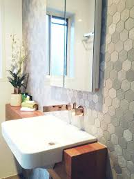 feature tiles bathroom ideas reader renovation dated ensuite gets a modern hex makeover