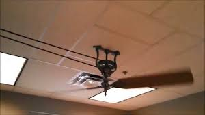 Belt Driven Ceiling Fan System by Industrial Looking Ceiling Fans Crazy Wonderful Diy Cage Light
