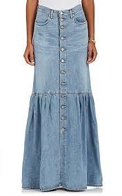 denim maxi skirt jean atelier wedding denim maxi skirt barneys new york