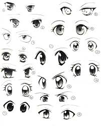 draw cute anime eyes drawing sketch picture