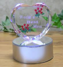 amazon com light up led heart for mom worlds best mom etched