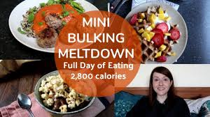 mini meltdown full day of eating 2800 kcals lean bulk mini