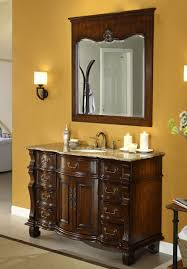 Antique Looking Bathroom Vanities Adelina 60 Inch Antique Style Bathroom Vanity Brown Marble Countertop