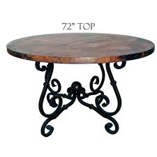 french dining table 72in diameter copper top timeless wrought