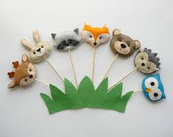 woodland creatures baby shower decorations woodland cupcake topper forest cupcake topper fox cupcake