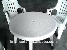 plastic round table and chairs fantastic plastic round outdoor table white plastic outdoor table