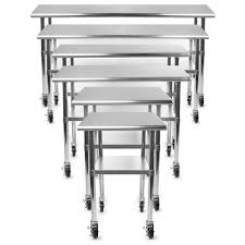 Work Table With Stainless Steel Top 49 by Stainless Steel Prep Table 1 Door Mega Top Stainless Steel