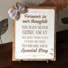 in loving memory wedding sign in loving memory wedding memorial plaque sign personalised wedding
