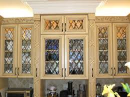 The Beveled Edge Cabinet Doors - Leaded glass kitchen cabinets