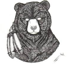 amazing bear head tattoo design by nefarioussandshrew