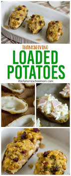loaded thanksgiving potatoes recipe using thanksgiving leftovers