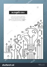 business idea vector line design brochure stock vector 447343891