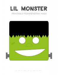 30 crafty days of halloween printable cat and frankenstein mask