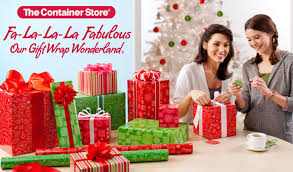 container store christmas wrapping paper the container store s gift wrap and bow demonstrations arizona