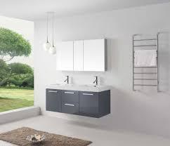Sink With Double Faucet Virtu Usa Jd 50154 Gr Midori 54 In Bathroom Vanity Set