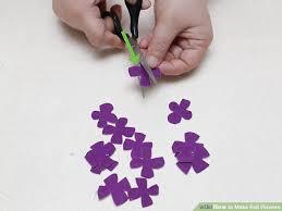 felt flowers 5 ways to make felt flowers wikihow