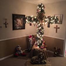 christmas tree cross christmas lights decoration