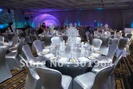 metallic bronzing shiny silver chair cover special design for