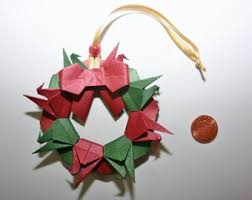 origami crane ring etsy
