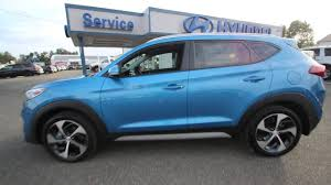 hyundai tucson 2014 blue 2017 hyundai tucson sport caribbean blue hu489655 mt vernon