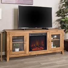 Barn Wood Entertainment Center Walker Edison Furniture Company 58 In Wood Media Tv Stand Console