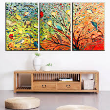 aliexpress com buy muya beautiful love birds painting wall mural aliexpress com buy muya beautiful love birds painting wall mural colorful painting modern art 3 panels oil canvas paintings for living room wall from