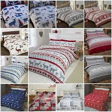 Flannelette Single Duvet Cover Brushed Cotton Winter Warm Flannelette Duvet Cover U0026 Pillowcase
