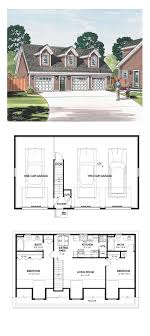 house plans with apartment garage apartment plan 30032 total living area 887 sq ft 2