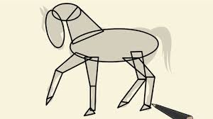 draw simple horse 11 steps pictures wikihow