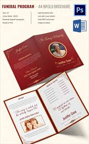 Images Of Funeral Programs Funeral Program Template 23 Free Word Pdf Psd Format Download