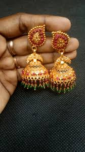 big jhumka gold earrings kemp silver jhumka antique gold plating with with tint big