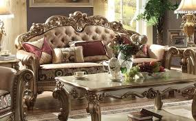 Formal Living Room Sets Furniture Vendome Formal Living Room Set In Gold