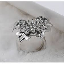 butterfly crystal rings images Trendy rings for women 3d cute butterfly crystal wedding ring jpg