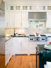 Glass Tile Backsplash With White Cabinets Sea Glass Tile Backsplash Houzz