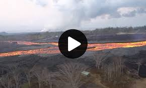 Hawaii Rivers images Aerial survey of river of lava as it flows down valley in hawaii jpg